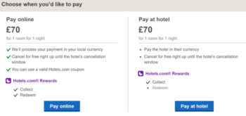 Hotels.com reward double stamps