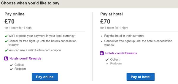 Hotels.com reward double stamps