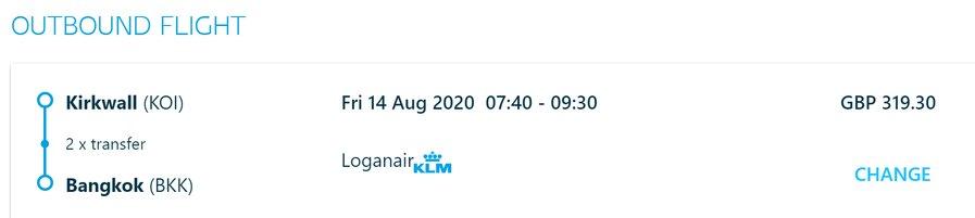 KLM codeshare with Loganair