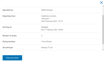 How to see what aircraft is operating your British Airways flight