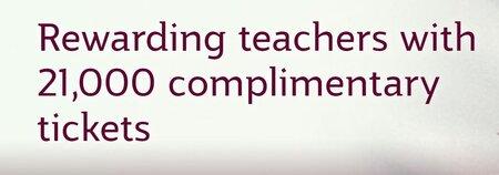 Qatar Airways free teacher flights