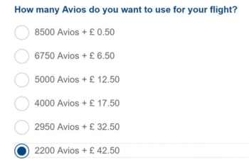 How to use up a small Avios balance from a friend or family member
