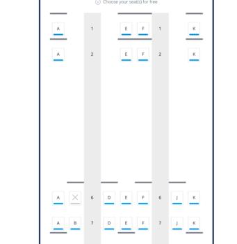 British Airways 787 seat plan