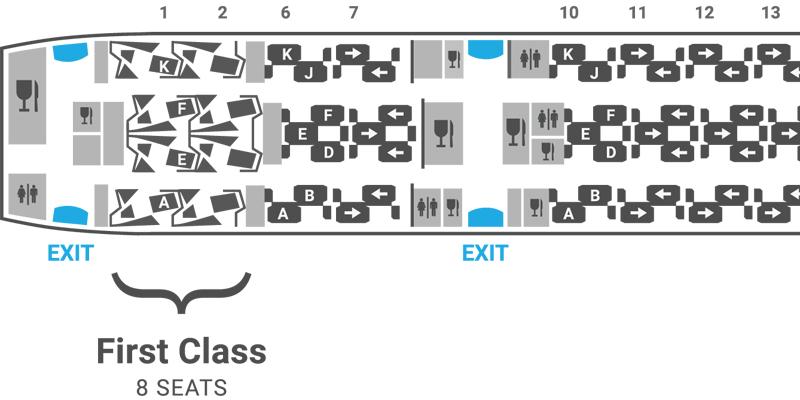British Airways 787-9 seat map First