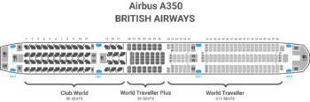 British Airways A350 seat map