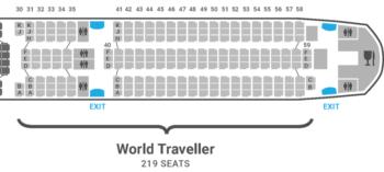 British Airways A350 seat plan World Traveller
