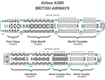 British Airways A380 seat map