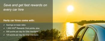 How to credit Hertz car rentals to IHG Rewards Club