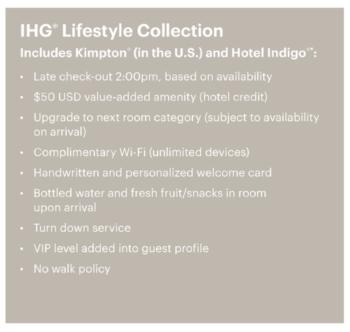 IHG Lifestyle Collection benefits