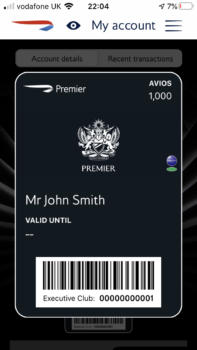 British Airways Premier card