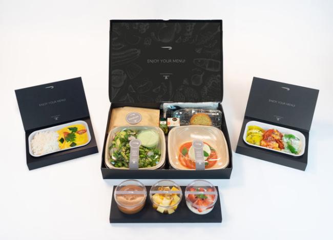 British Airways First Class coronavirus food catering