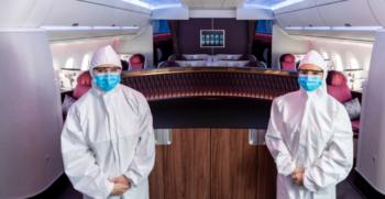 Qatar Airways cabin crew PPE