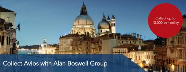 Earn Avios with Alan Boswell Insurance