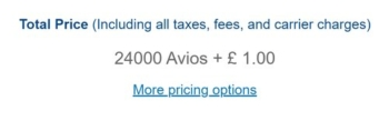 Budapest Avios cost