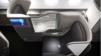 British Airways A380 Club World business class seat plan