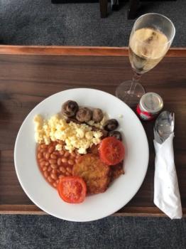 British Airways lounge breakfast
