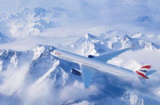 British Airways BA A350 inflight