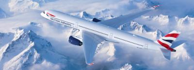 British Airways A350 inflight narrow