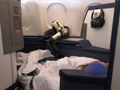Flying Delta One with a baby during coronavirus