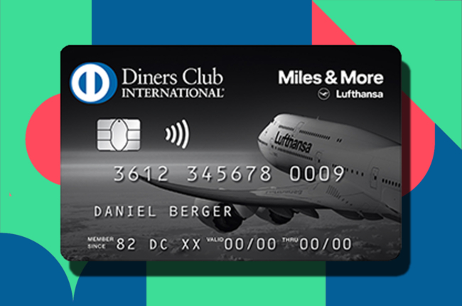 Miles and More Diners Club payment card