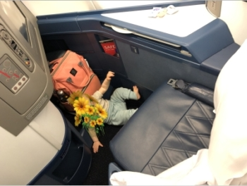 Flying Delta One business class with a baby