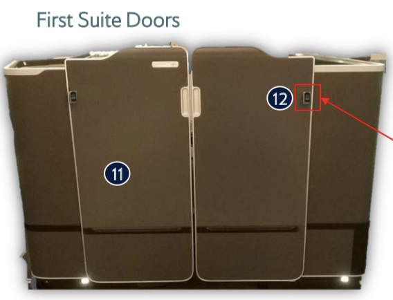 British Airways First Suite doors
