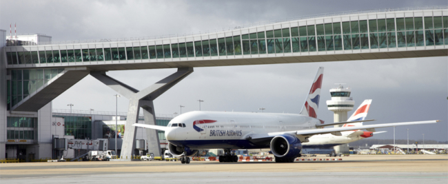 British Airways Gatwick Airport narrow