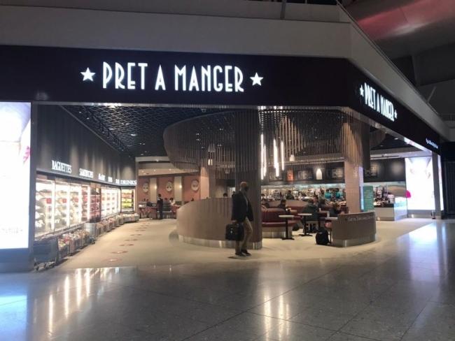 New Pret A Manger in London Heathrow Terminal 2
