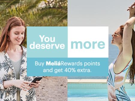 Melia 40 buy points bonus