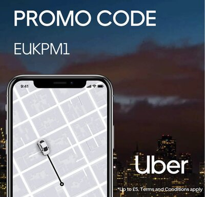 Save £5 on your next two Uber rides