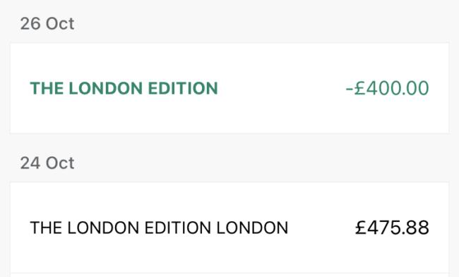 London Edition bill