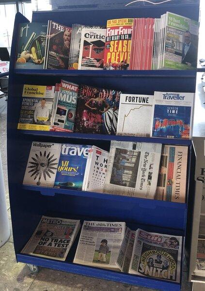 Free airport magazines