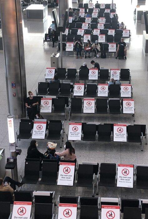Heathrow Terminal 2 seating