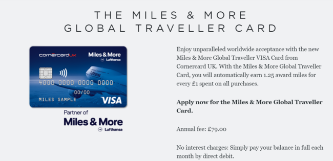 New Lufthansa Miles & More Global Traveller Visa card