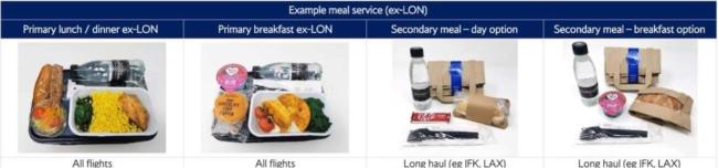 British Airways long haul economy meal coronavirus