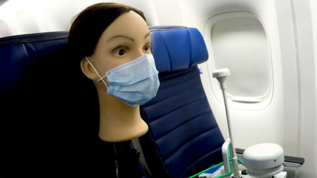 How safe is flying with a mask