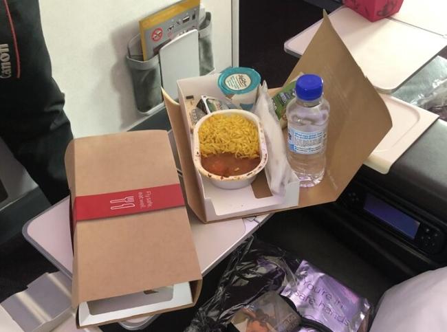 Virgin Atlantic economy meal coronavirus
