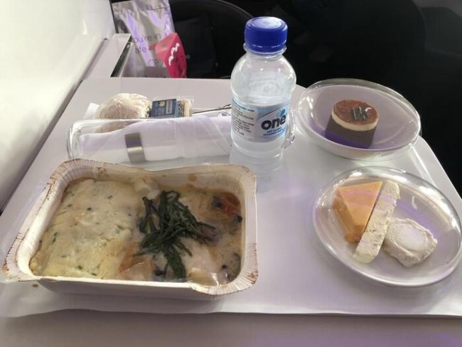 Virgin Atlantic upper class meal coronavirus