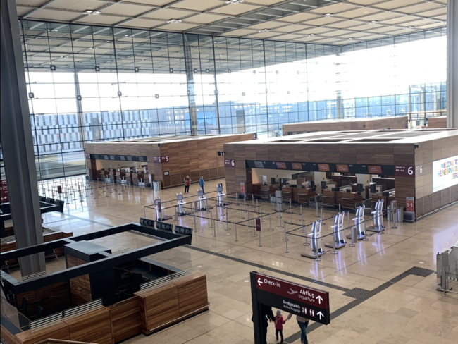Berlin-Brandenburg Airport check in