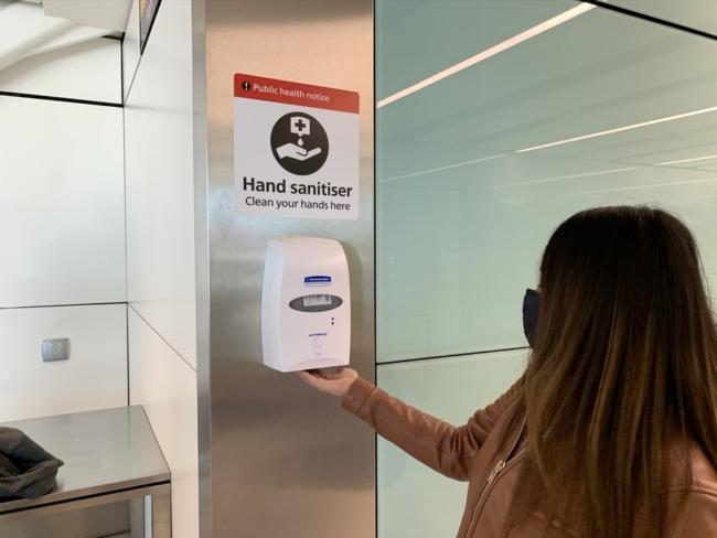 heathrow hand sanitiser