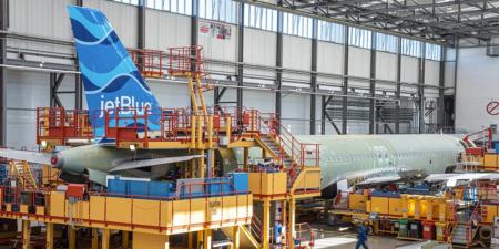 JetBlue A321LR tail fin