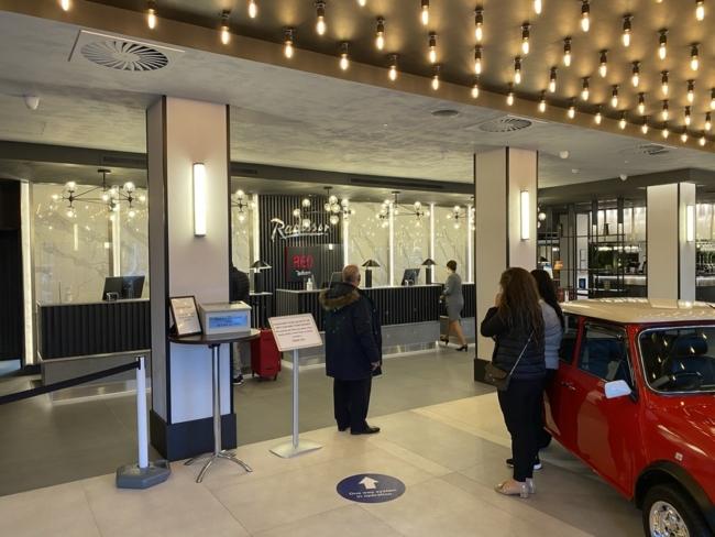 Radisson Heathrow Hotel reception