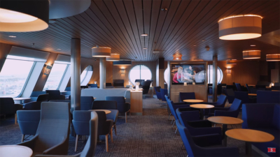 Stena Plus first class lounge