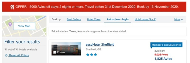 easyhotel sheffield pricing