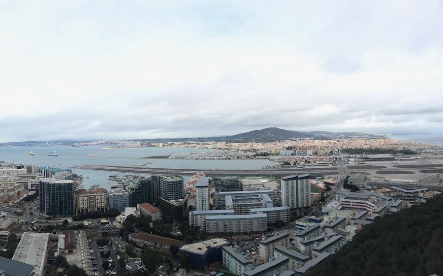 Airport from Moorish Castle Gibraltar