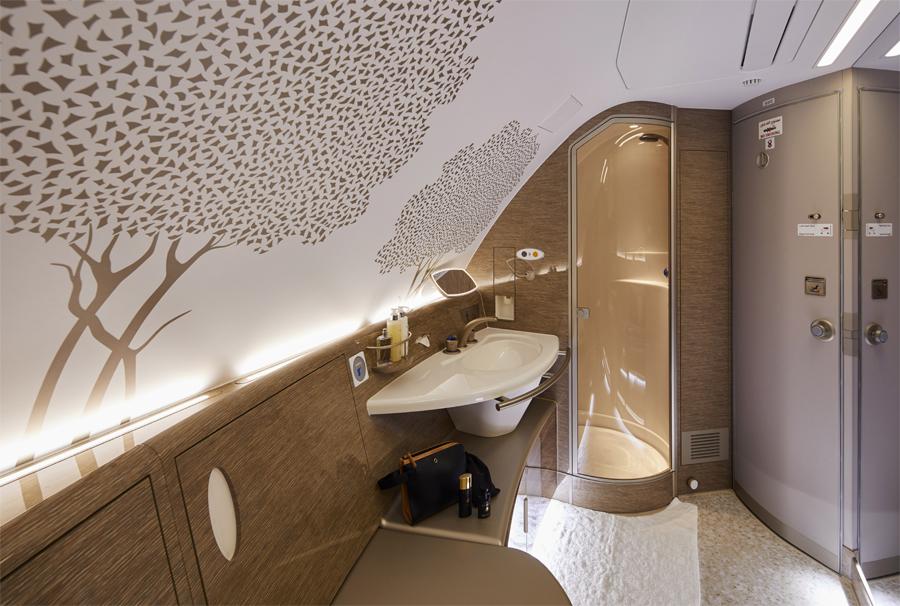 Emirates A380 Shower Spa refresh