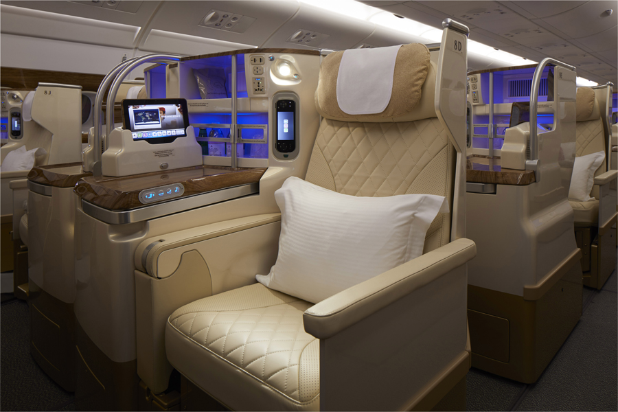 Emirates A380 business class refresh