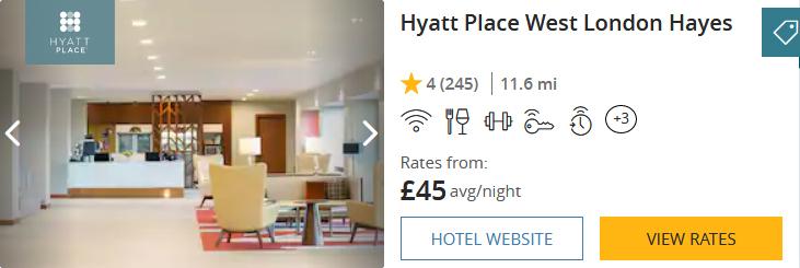 Hyatt Place West London Hayes £45
