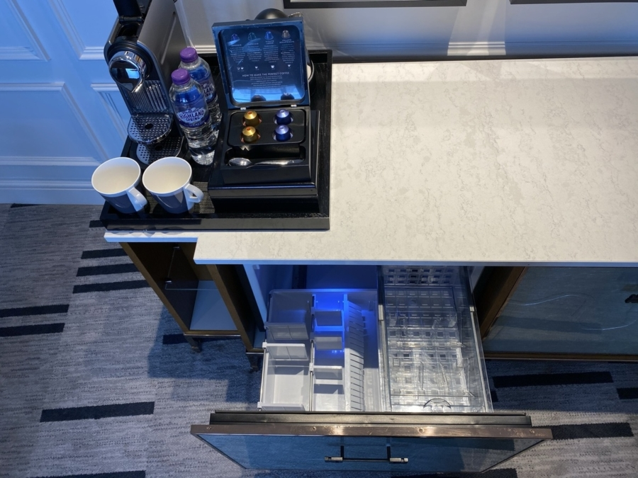 London Marriott County Hall Nespresso fridge