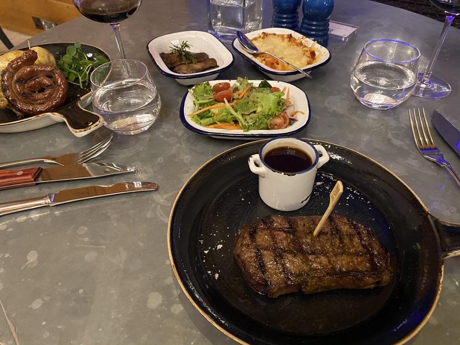 London Marriott County Hall gillrays sirloin steak